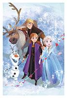 Disney Fleecedecke Frozen 2 - Mit Anna, Elsa, Kristof, Sven, Olaf  für Kinder