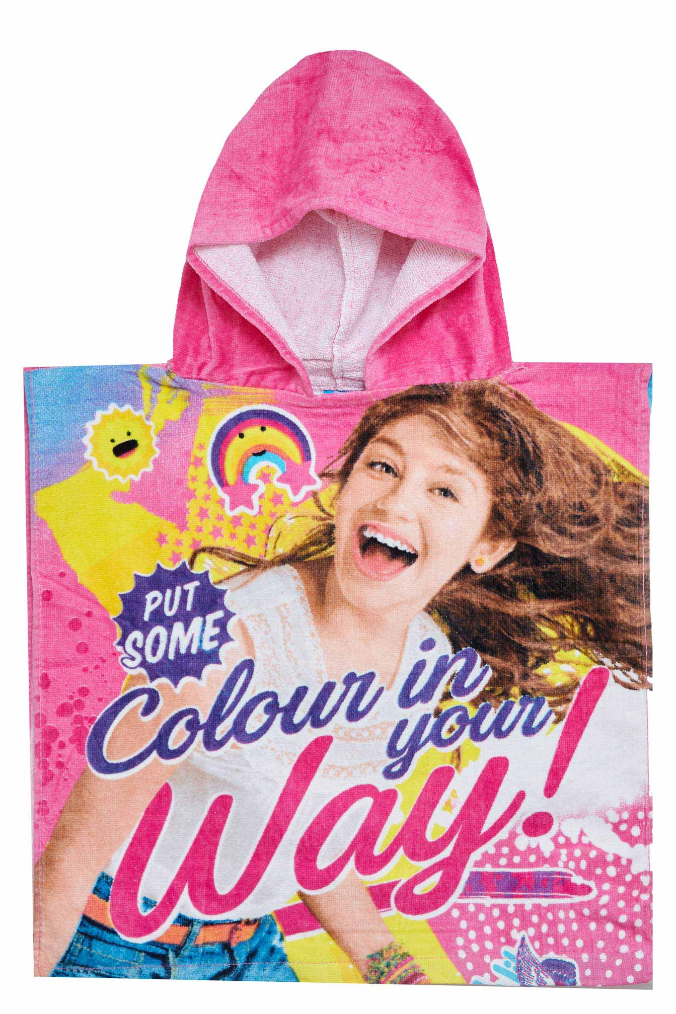 Soy Luna Kinder-Poncho mit Kapuze Put Some, colour in your Way! Pink