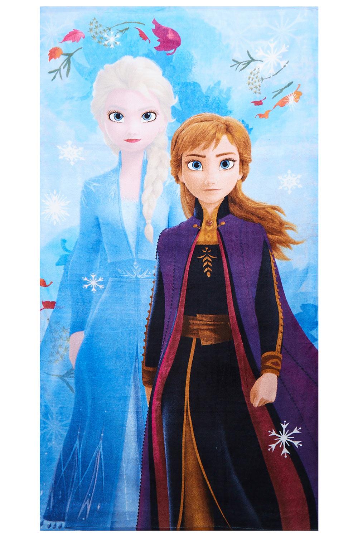 Disney Frozen 2 Handtuch Anna & Elsa mit Schneeflocken 70x140 cm 100% Baumwolle