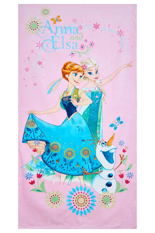 Disney Frozen Handtuch Anna und Elsa pink 70 x 140 cm, 100% Baumwolle
