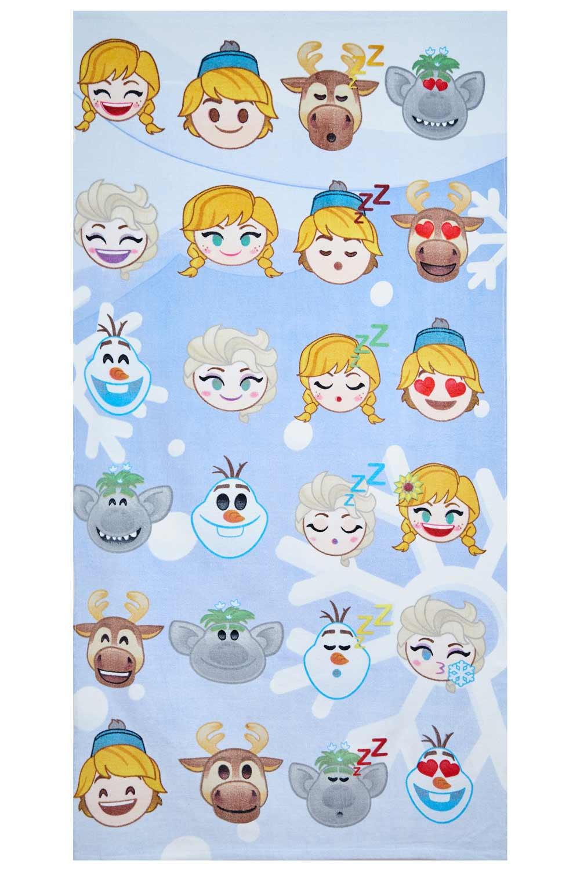 Disney Frozen Handtuch Emojis 70 x 140 cm, 100% Baumwolle