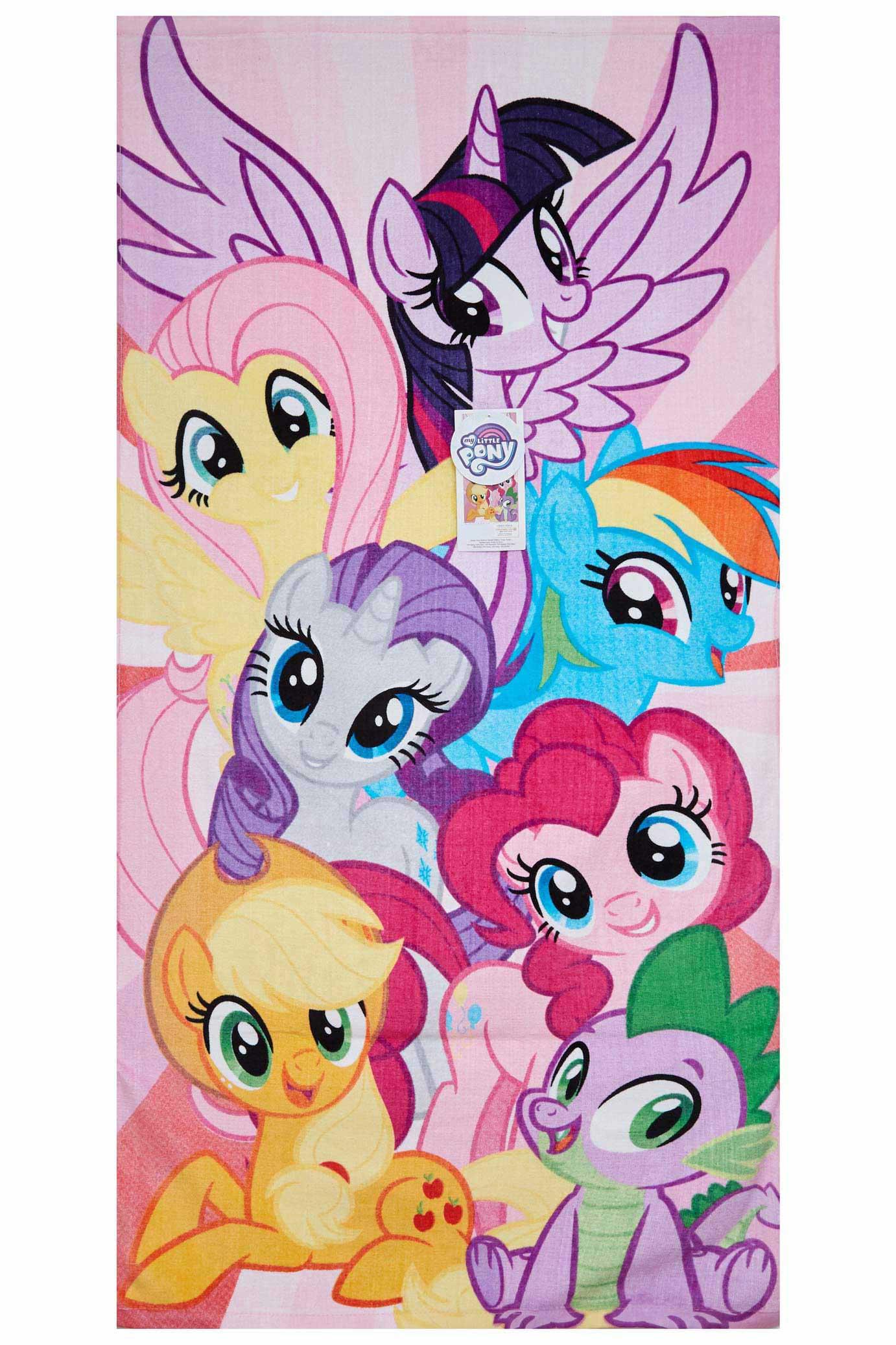 My Little Pony Strandtuch mit Gruppenbild  70 x 140 cm 100 % Baumwolle