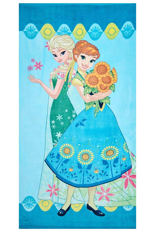 Disney Frozen Handtuch Anna und Elsa grün 70 x 140 cm, 100% Baumwolle