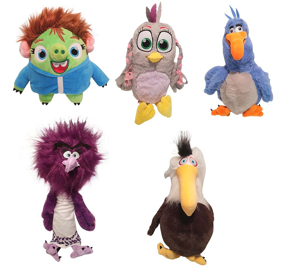 Angry Birds 5er Set Plüschfiguren verschiedene Charaktere zum Sammeln