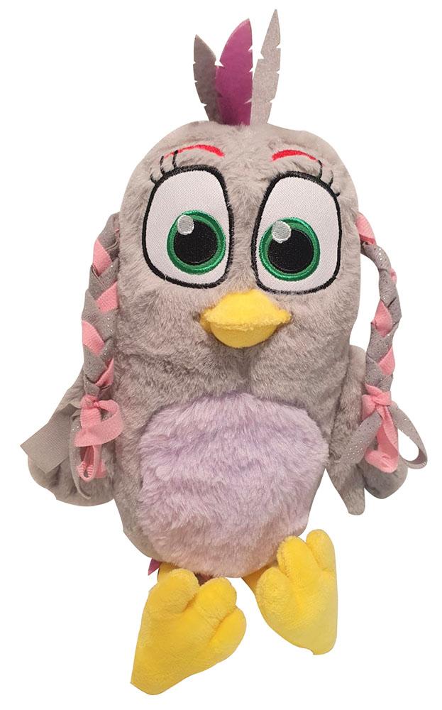 Angry Birds SILVER graues Vogelmädchen mit Zöpfen Plüschfigur 25 cm für Kinder