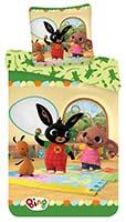 Baby Kinder Bettwäsche Bing Bunny mit Flop & Sula 100x135 Bettbezug 40x60 cm Kopfkissen 100% Baumwolle