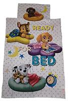 Baby-Wendebettwäsche Paw Patrol Zuma Chase Skye Marshall Ready for Bed 100 x 135 cm 100% Baumwolle