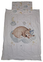 Baby-Wendebettwäsche Motiv: Bär auf Wolke 100 x 135 cm 100% Baumwolle