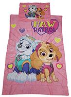 Baby-Wendebettwäsche Paw Patrol Skye und Everest 100 x 135 cm 100% Baumwolle
