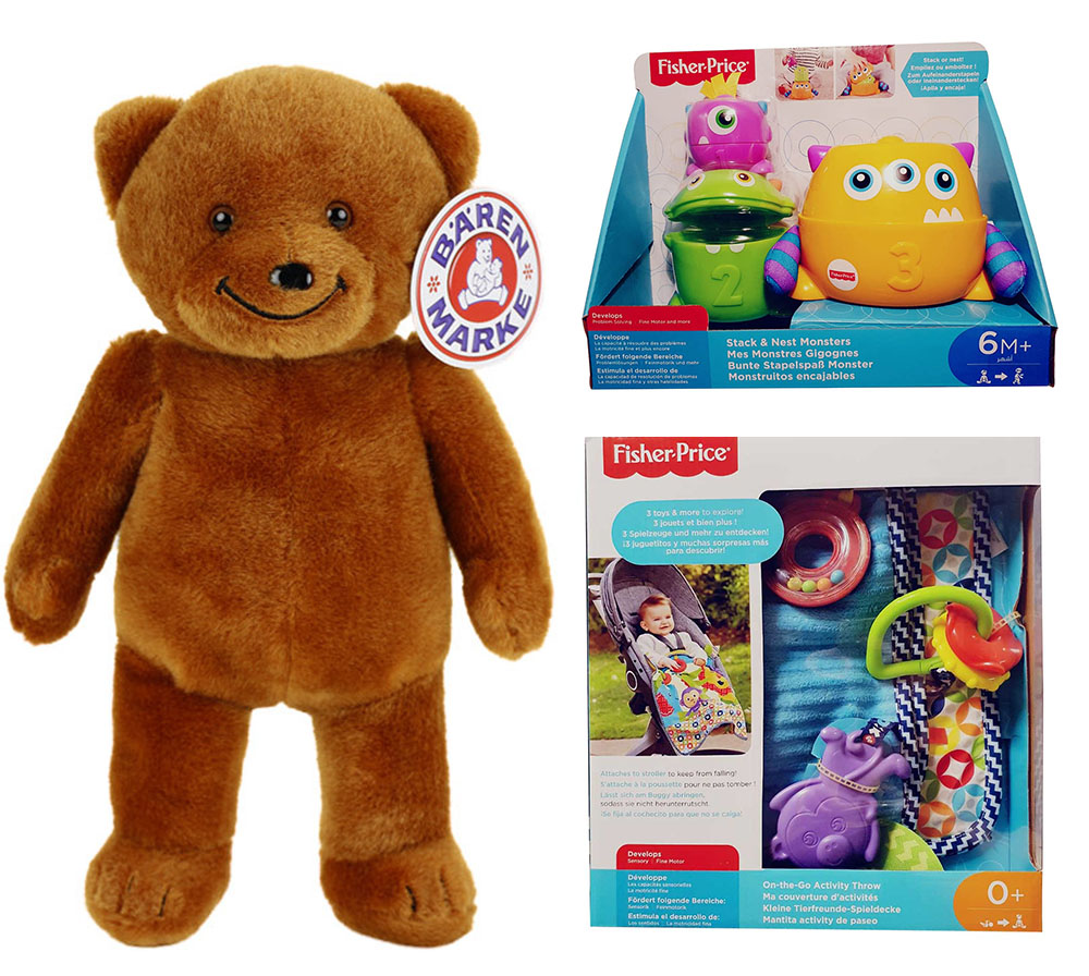 Fisher-Price Monster-Stapelspaß Babydecke Disney Baby Micky Maus Bärenmarke Bär