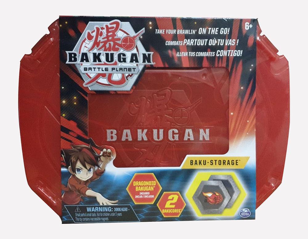 Bakugan 2011534 Storage Case Rot Aufbewahrungskoffer mit Pyrus Dragonoid Bakugan