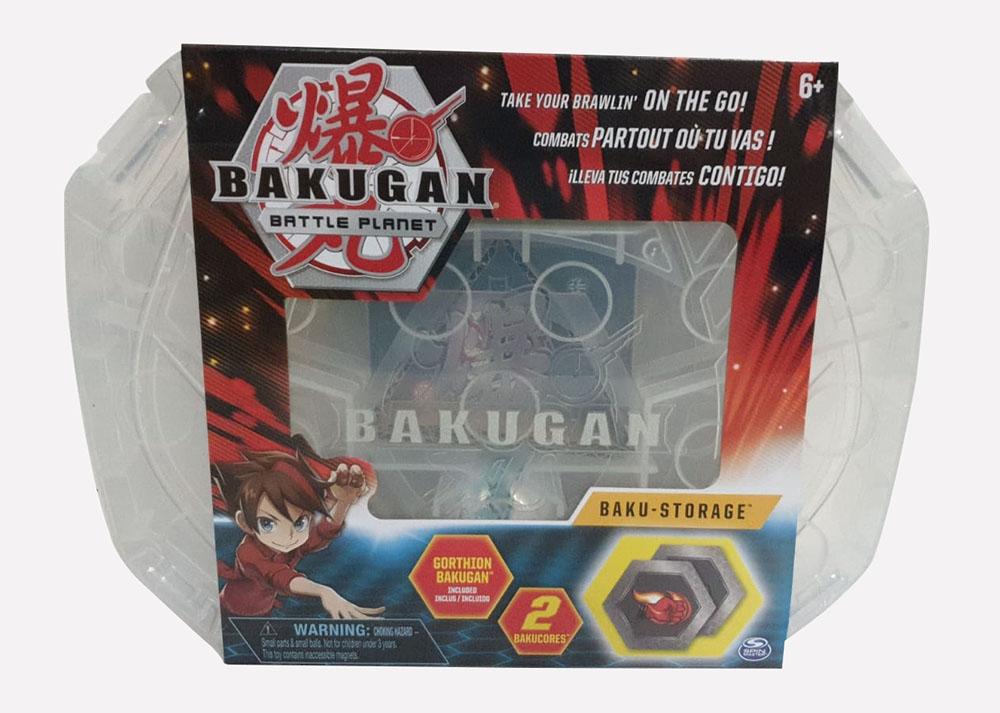 Bakugan 20115350 - Storage Case Weiss, Aufbewahrungskoffer mit Gorthion Bakugan