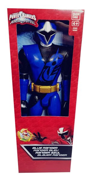 Bandai Power Ranger Blau Ninja Steel bewegliche Action-Figur 30 cm für Jungen