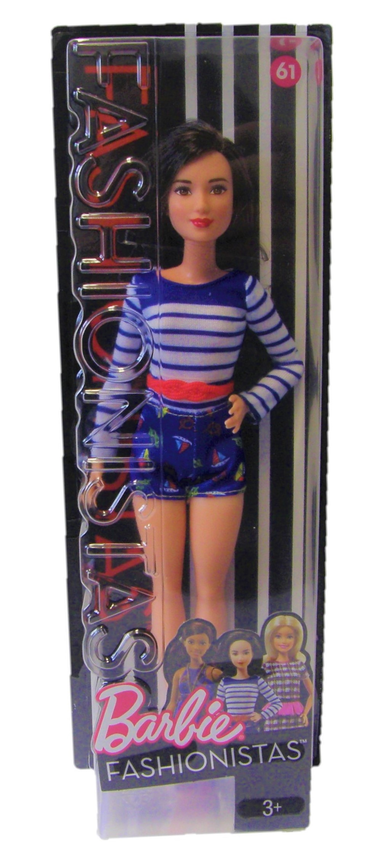 Barbie DYY91 Mattel Barbie Marine-Puppe Fashionistas