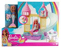 Barbie Dreamtopia Chelsea FXT20 Meerjungfrauen Spielplatz mit Puppe und Zubehör für Kinder