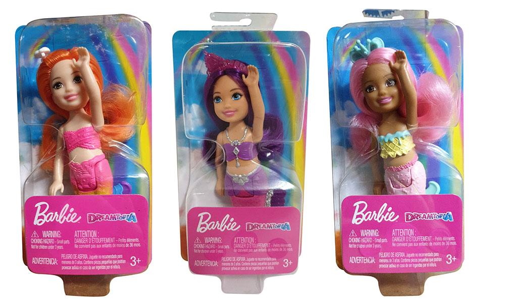 Barbie Dreamtopia Mattel FKN04 FKN06 FKN05 Regenbogen Juwelen Bonbon-Chelsea