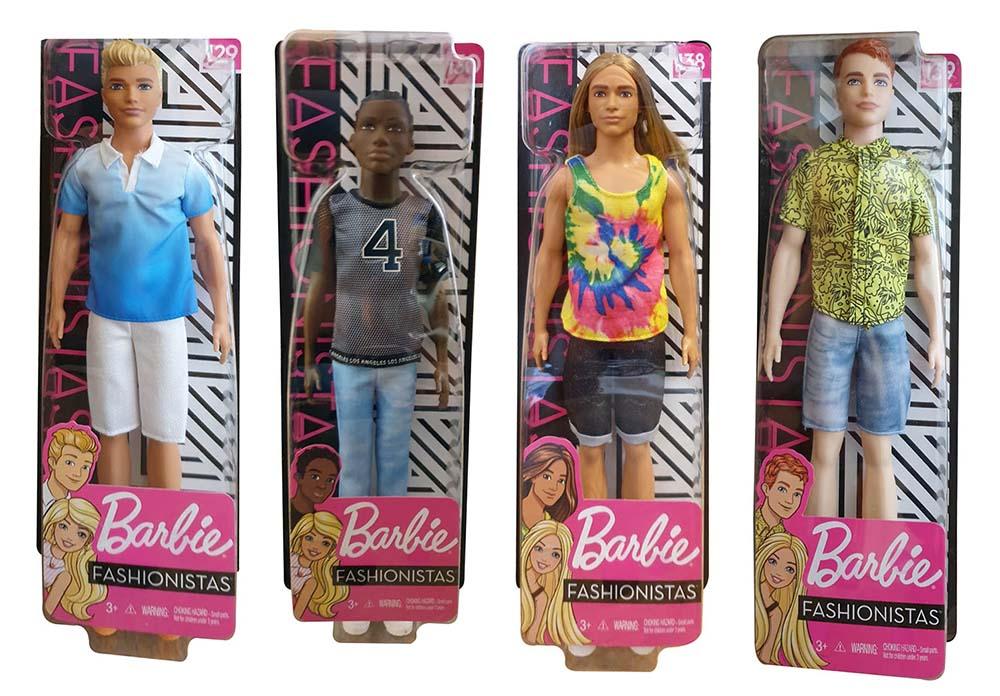 Barbie - Ken Fashionistas Puppe, Modepuppen in versch. Outfits (Auswahl)