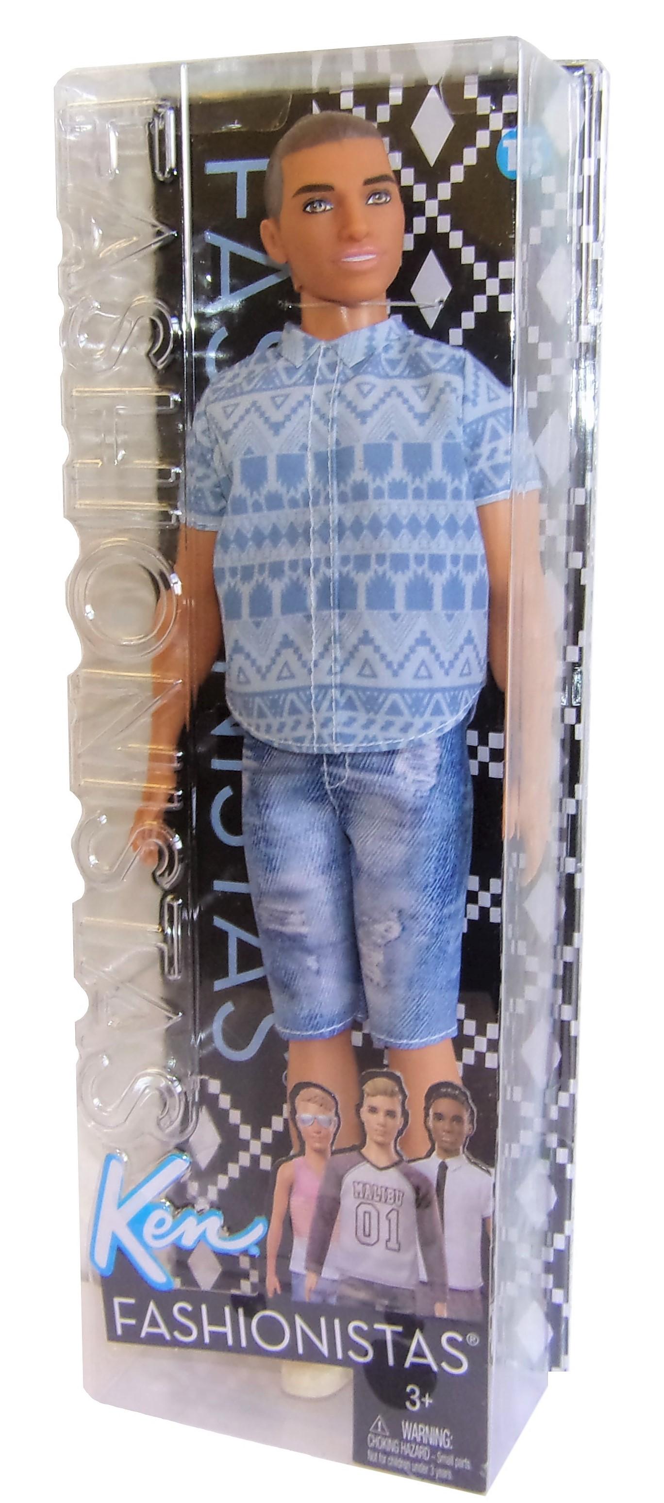 Barbie Ken in verwaschener Jeans Fashionistas Puppe FNJ38