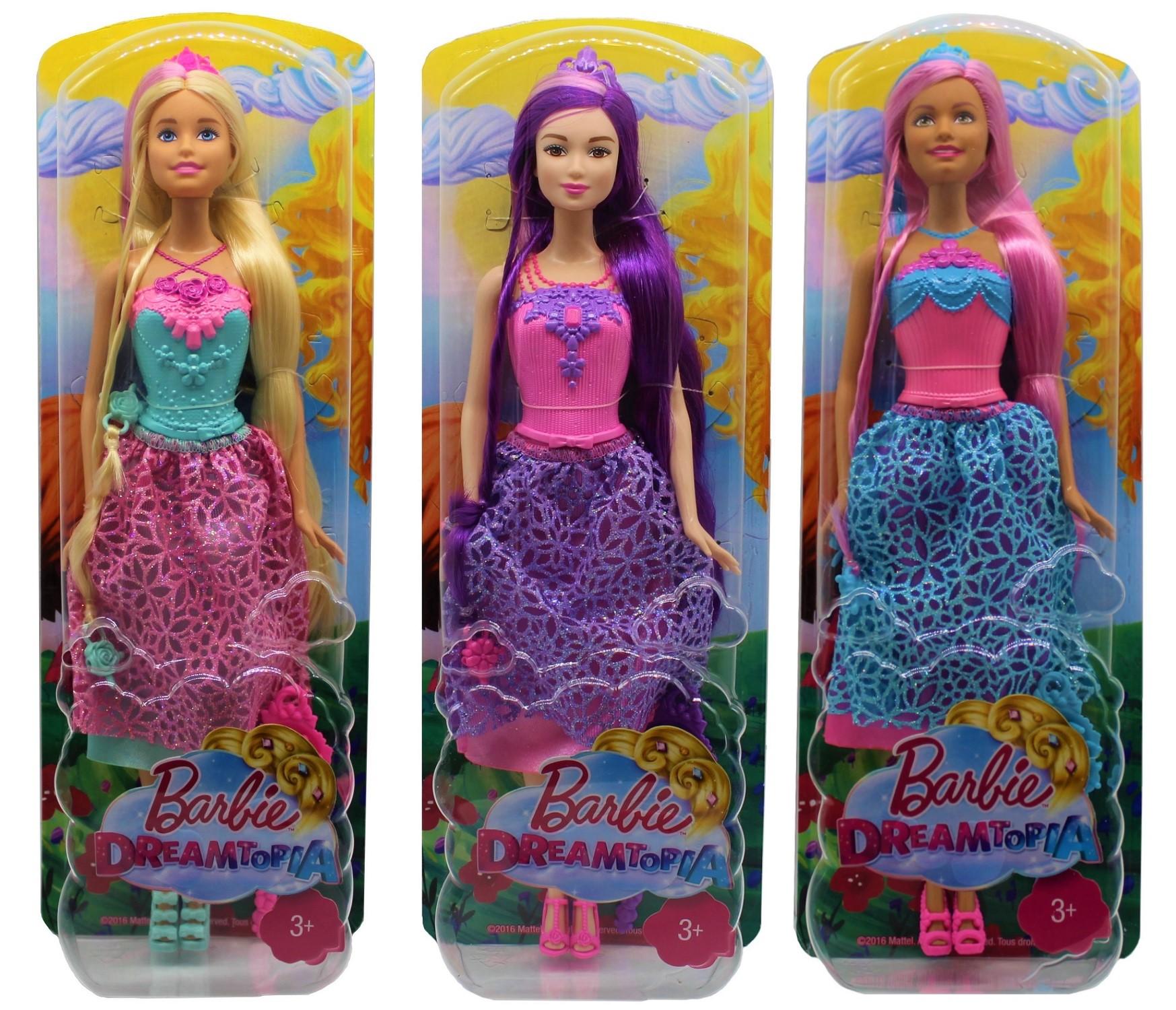 Barbie Dreamtopia Zauberhaar-Prinzessinnen 4 Königreiche (Auswahl)