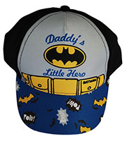"""Batman Kappe, Base Cap, Mütze, Sonnenhut """"Daddy's Little Hero"""" für Kinder, Schwarz, Gr. 48"""