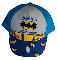 """Batman Kappe, Base Cap, Mütze, Sonnenhut """"Daddy's Little Hero"""" für Kinder Blau, Gr. 50"""