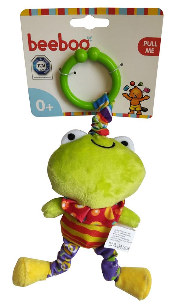Beeboo 40789481 Baby Activity Spieltier Kuscheltier Schmusetier für den Kinderwagen - Frosch, grün