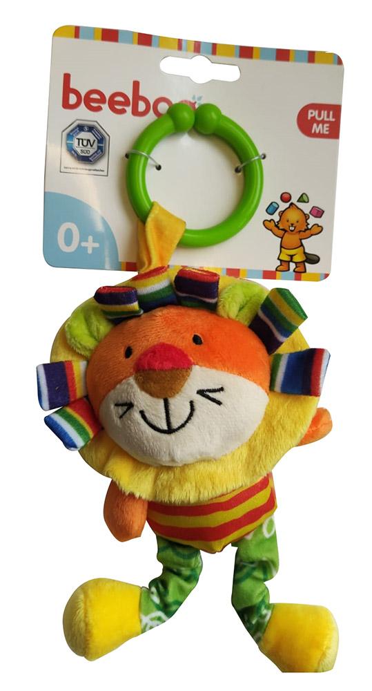 Beeboo 40789481 Baby Activity Spieltier Kuscheltier Schmusetier für den Kinderwagen - Löwe, bunt