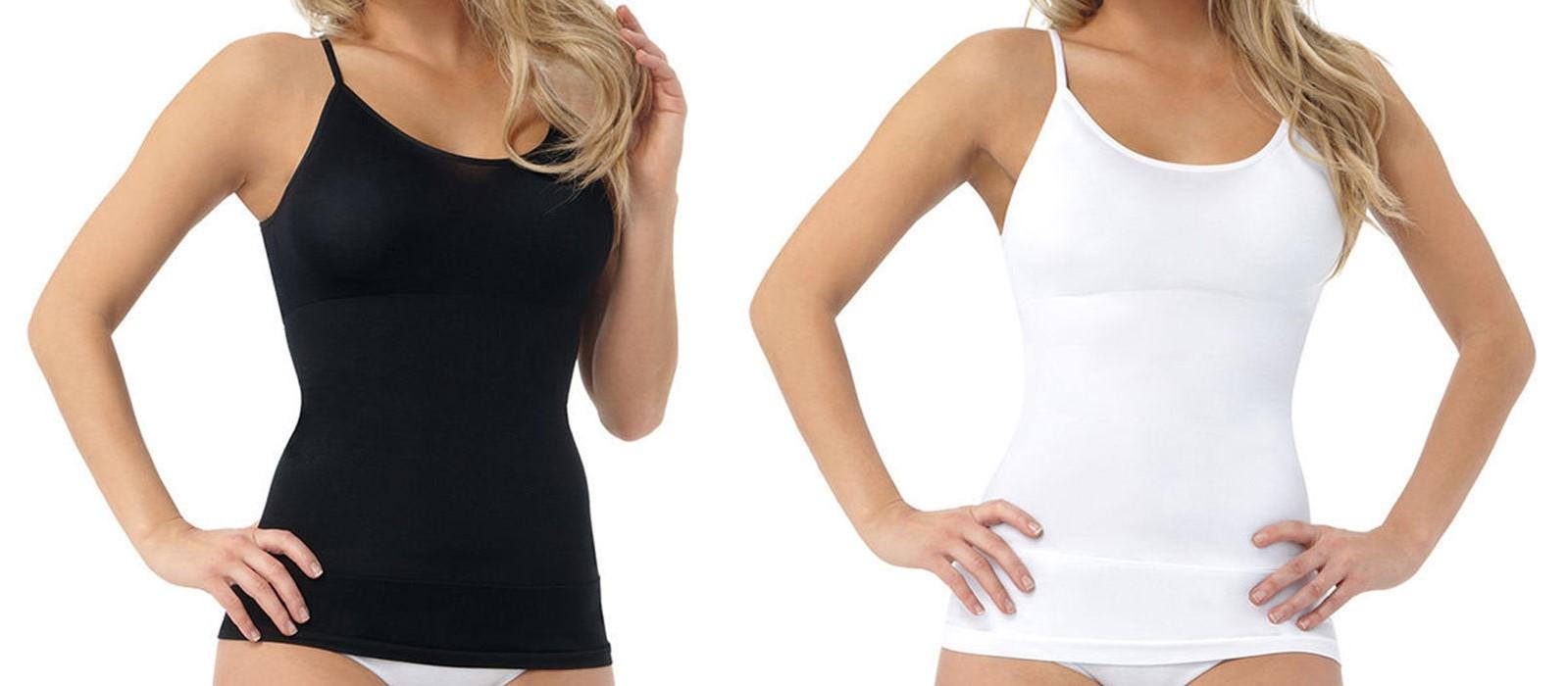 BELVIA figurformendes Shapewear Top in schwarz Größe XL