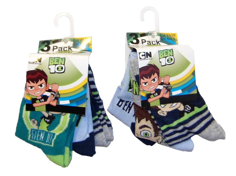 Ben 10 Socken für Kinder 23/26 (6er Pack)