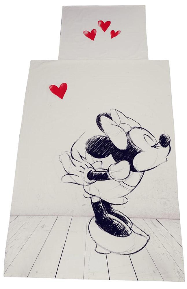 """Disney Minnie Maus Kinder-Bettwäsche Set """" Minnie Maus in Love"""""""