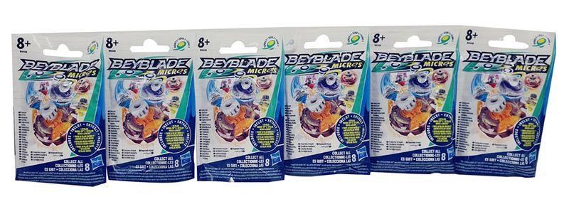 Beyblade Burst Blind Bag Micros Tops Kampfkreisel 6er Pack (Tüten) für Kinder
