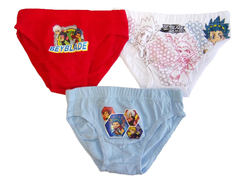 Beyblade Burst Jungen Slips 3er Pack für Kinder verschiedene Größen (Auswahl)