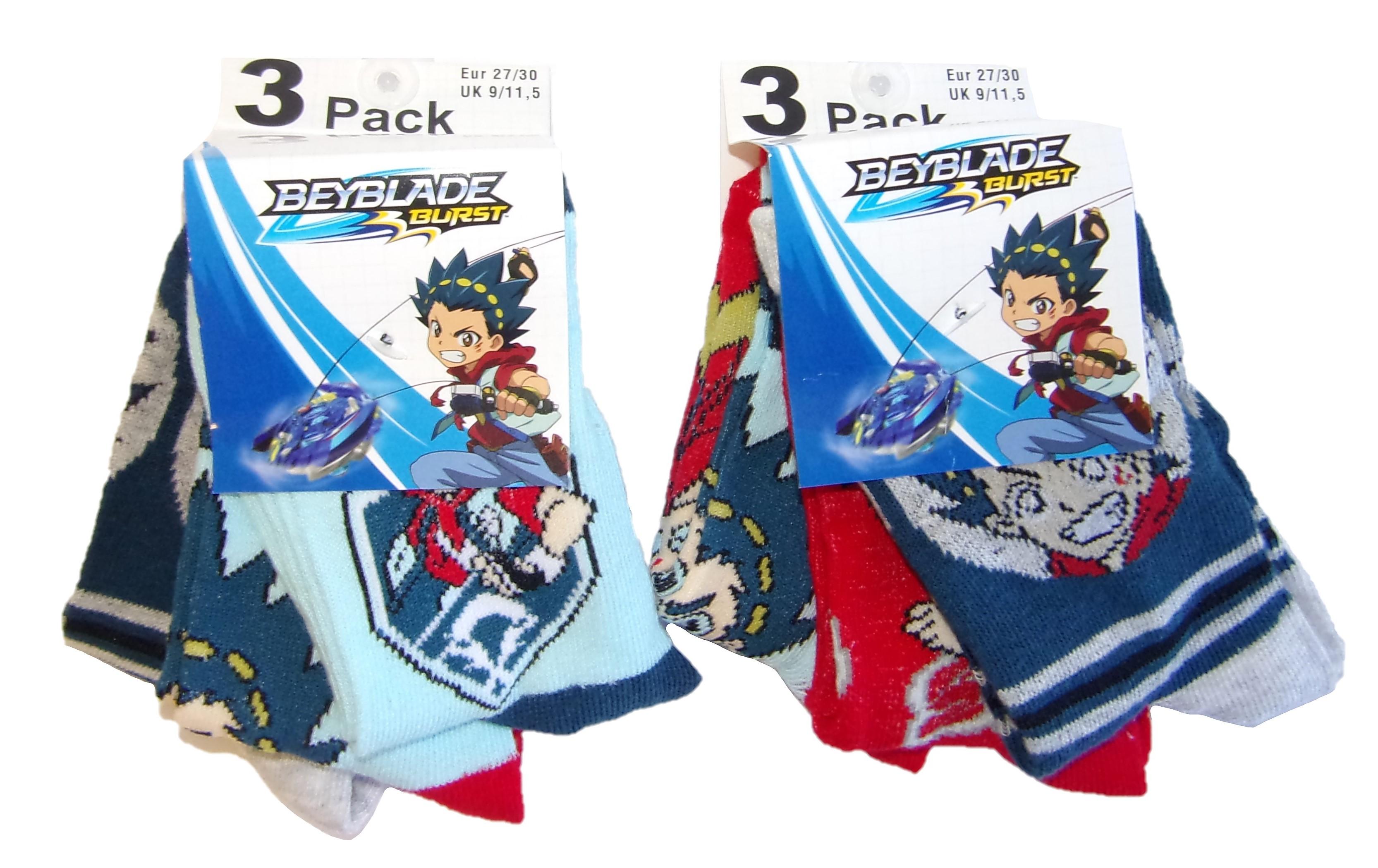 Beyblade Burst Socken für Kinder 27/30 (6er Pack)