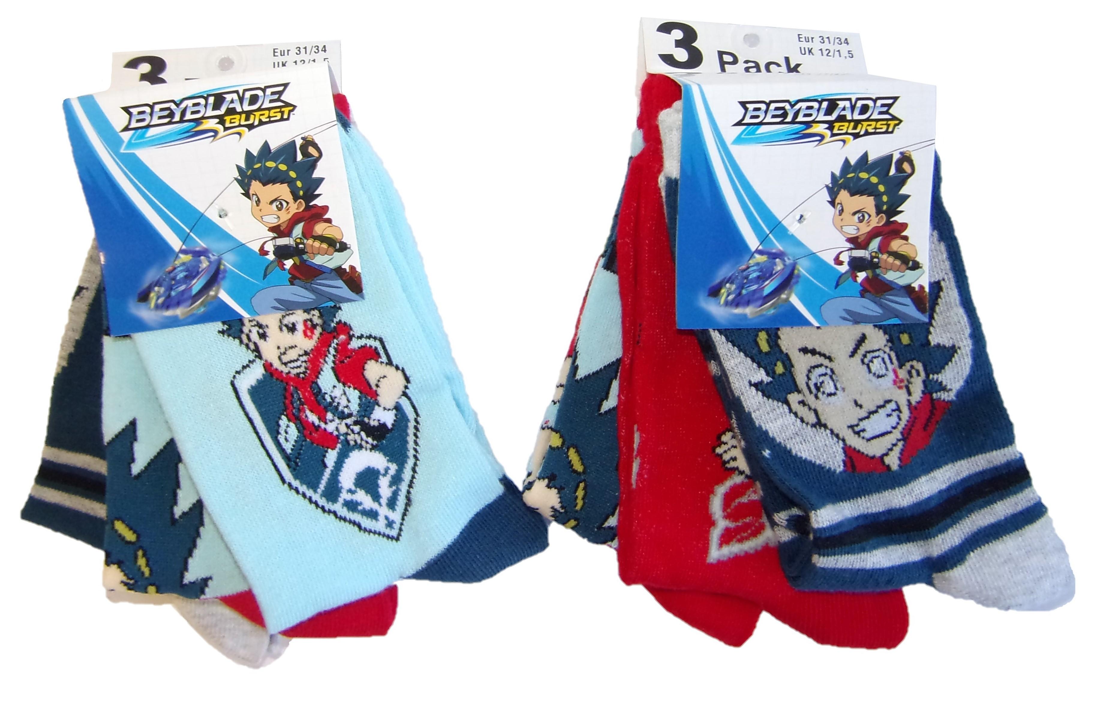 Beyblade Burst Socken für Kinder 31/34 (6er Pack)