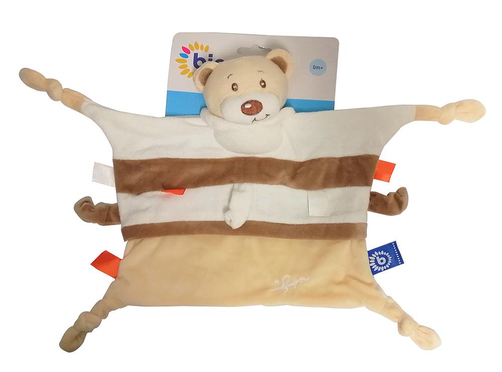 Bieco Schmusetuch Bubu Bär für Babys und Kinder