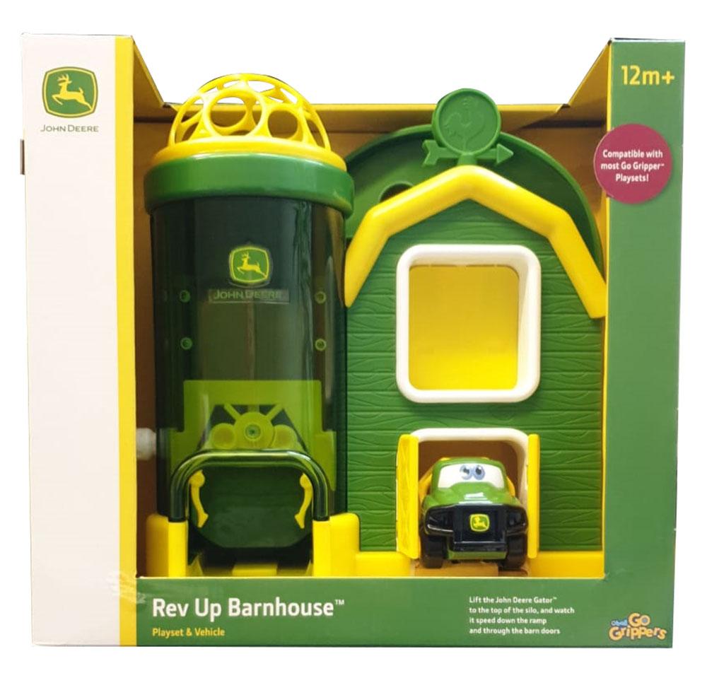 Bright Starts 10595, John Deere Bauernhof mit Fahrzeug mit Oball Spielzeugset