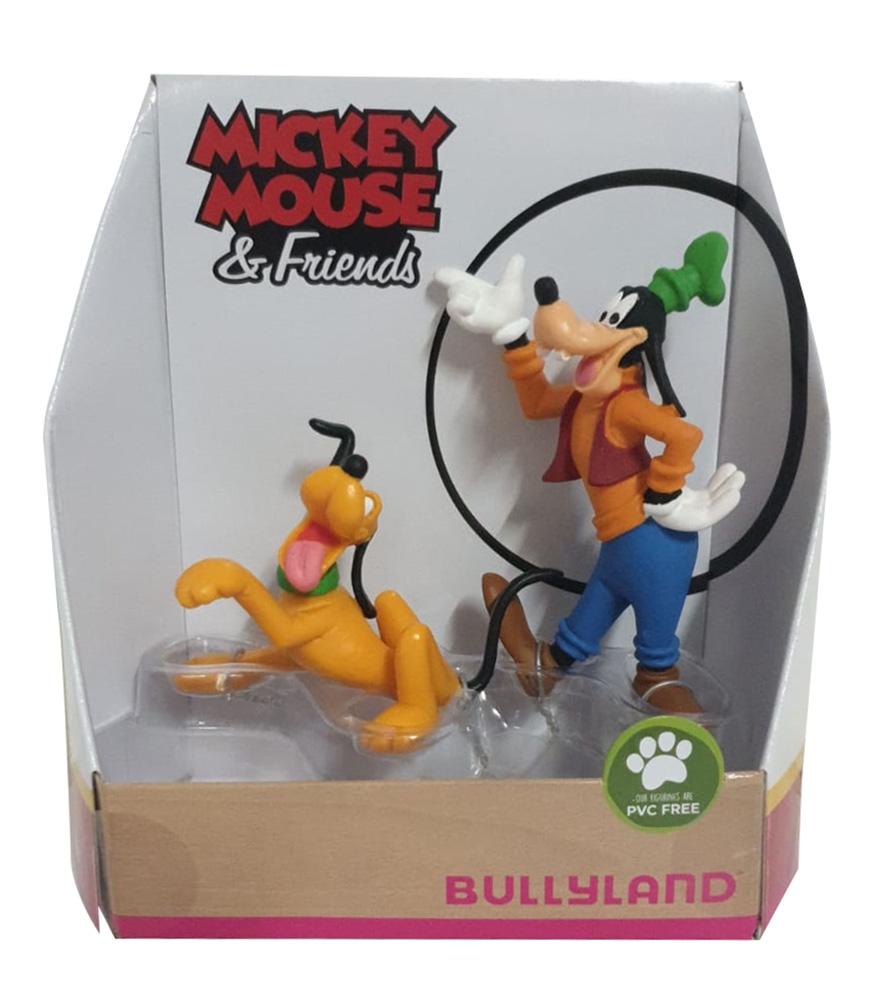 Bullyland 15085 - Spielfigurenset Walt Disney Mickey Mouse Pluto und Goofy