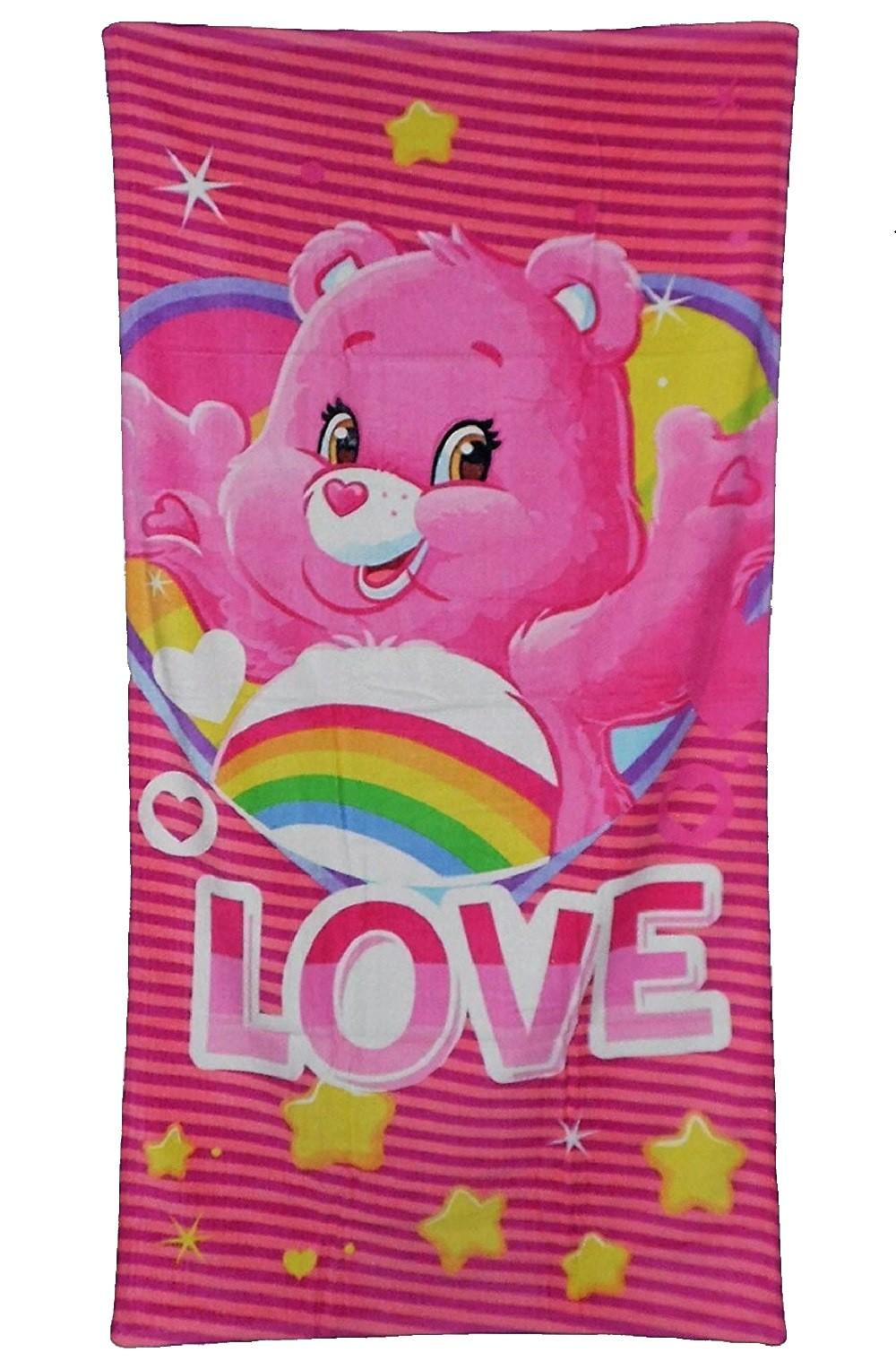 Care Bears Glücksbärchis Love Handtuch pink 70 x 140 cm
