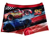 Disney Pixar Cars Badehose Badeshorts mit Lightning McQueen, Jackson Storm für Kinder, Rot, Gr. 116 cm