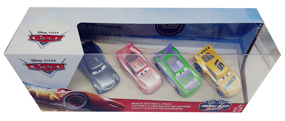 Cars Fireball Beach 4er Set Rennfahrzeuge mehrfarbig für Kinder