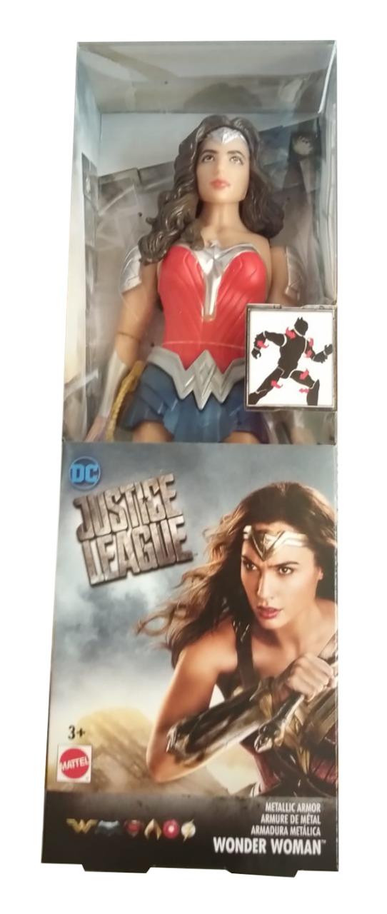 Justice League DC Wonder Woman bewegliche Actionfigur im Metall-Kostüm 30cm
