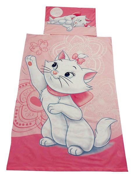Disney Bettwäsche-Set Marie von Cat Aristocats, 140 x 200, 100% Baumwolle