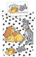Disney Baby Kinder Bettwäsche Susi und Strolch mit Welpen 100 cm x 135 cm Bettdecke + 40 cm x 60 cm Kopfkissen 100% Baumwolle