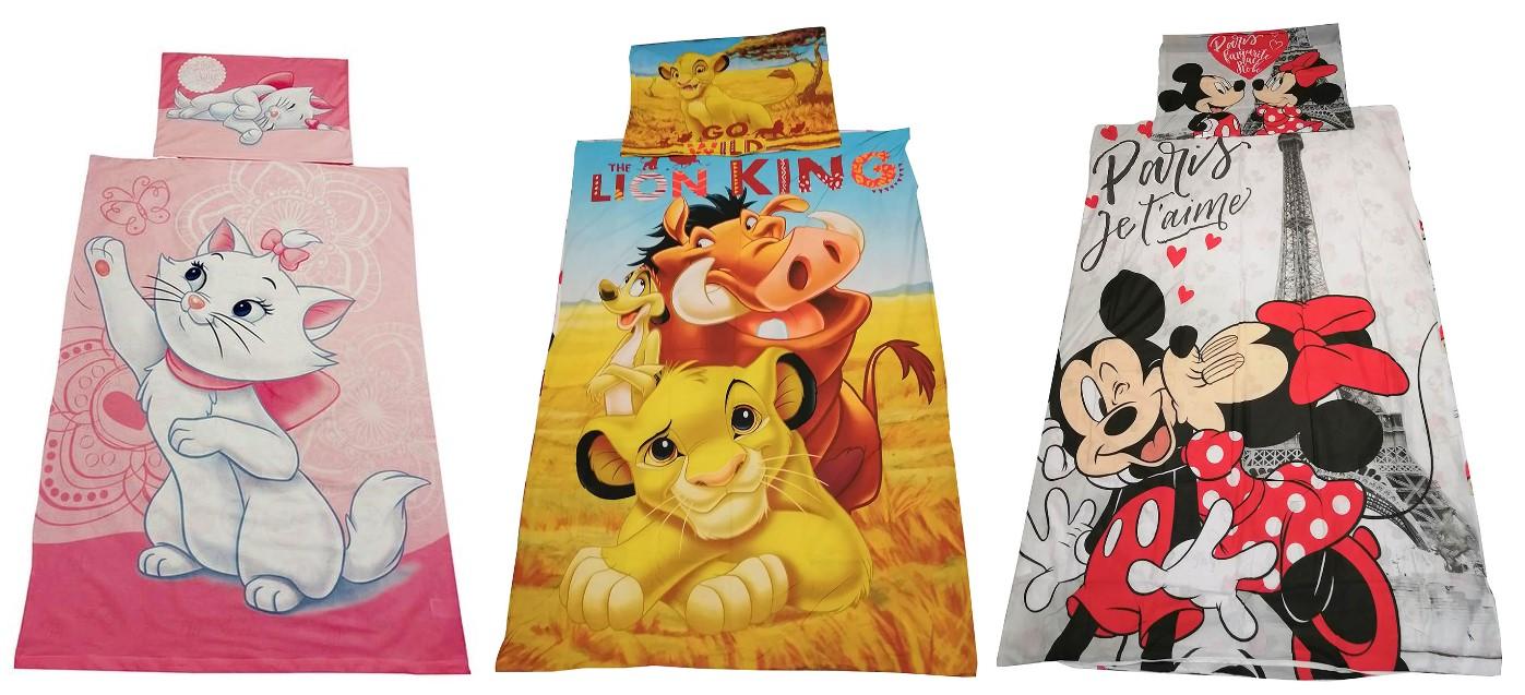 Disney Bettwäsche-Set Disney Film Motive 140 x 200, 100% Baumwolle für Kinder (Auswahl)