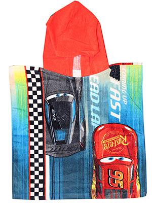 Disney Cars Lightning McQueen Badeponcho mit Kapuze aus 100% Baumwolle 75x50cm