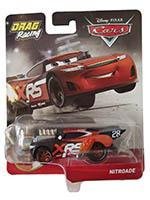 Disney Pixar Cars GFV37 - XRS Xtreme Racing Serie Drag Racing Nitroade Actioncar