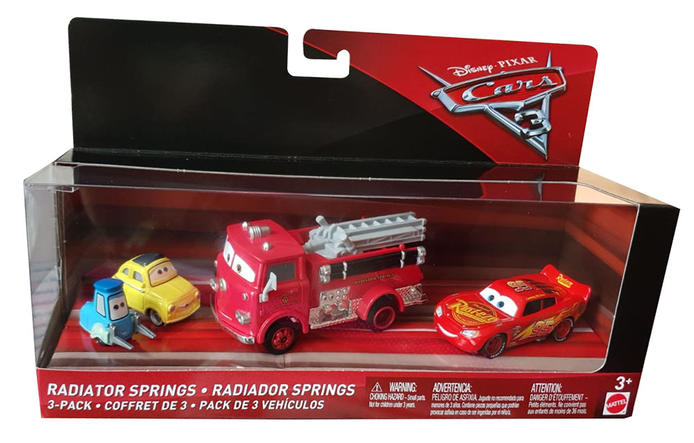 Cars Set Of 3 Lightning Mcqueen Luigi Guido 1 55 And Red
