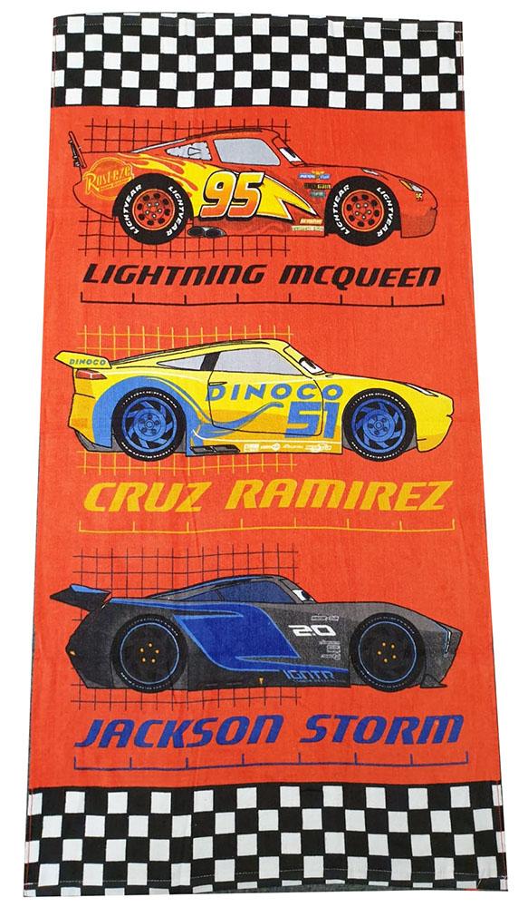 Disney Cars Lightning McQueen, Cruz Ramirez & Jackson Storm Handtuch Rot
