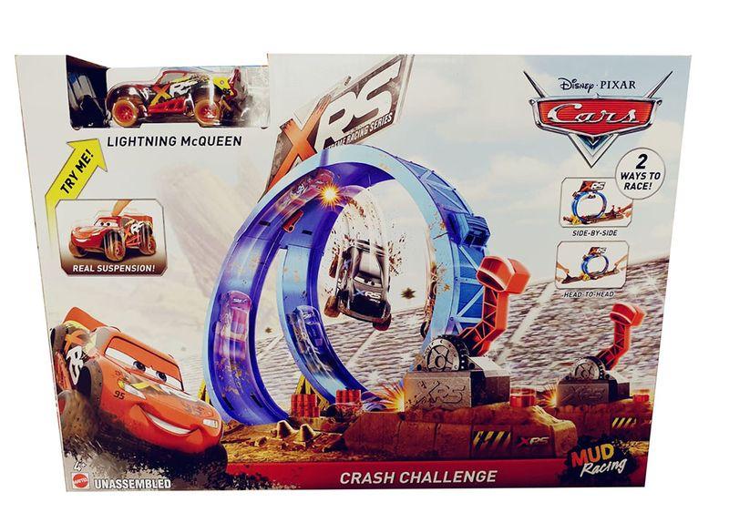 Disney Cars - XRS Extrem-Rennbahn mit Modellfahrzeug McQueen für Kinder