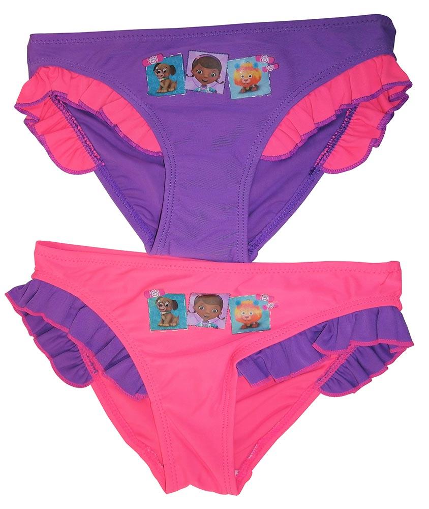 Disney Doc McStuffins Süße Mädchen Bade-Slips 2er Set lila/pink für Kinder (Auswahl)